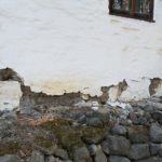 Mission wall in disrepair