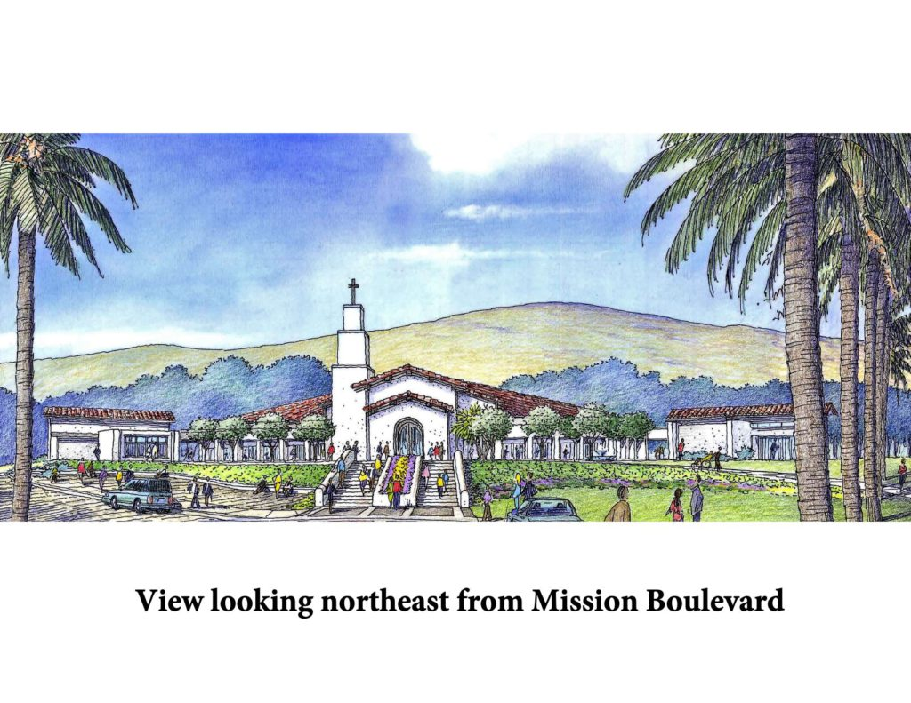 View of new church from Mission Boulevard