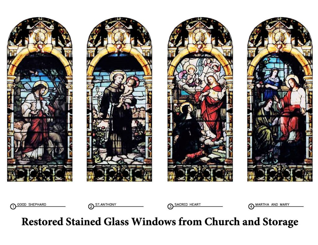 Stain glass moving from old to new church