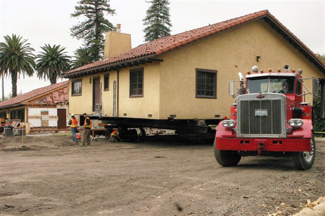 Moving the rectory to new site