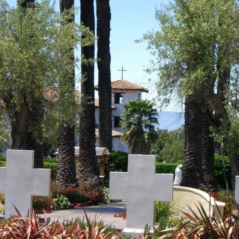 View of the Mission from Dominican cemetery