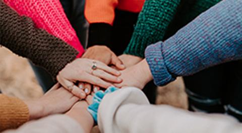 Parish hands working together